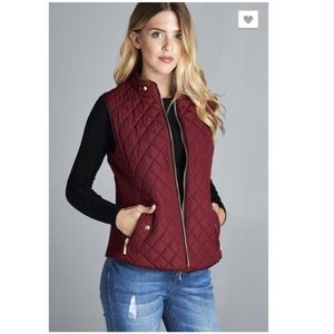 Jackets & Coats - LAST ONE! Burgundy Quilted Vest Size Small